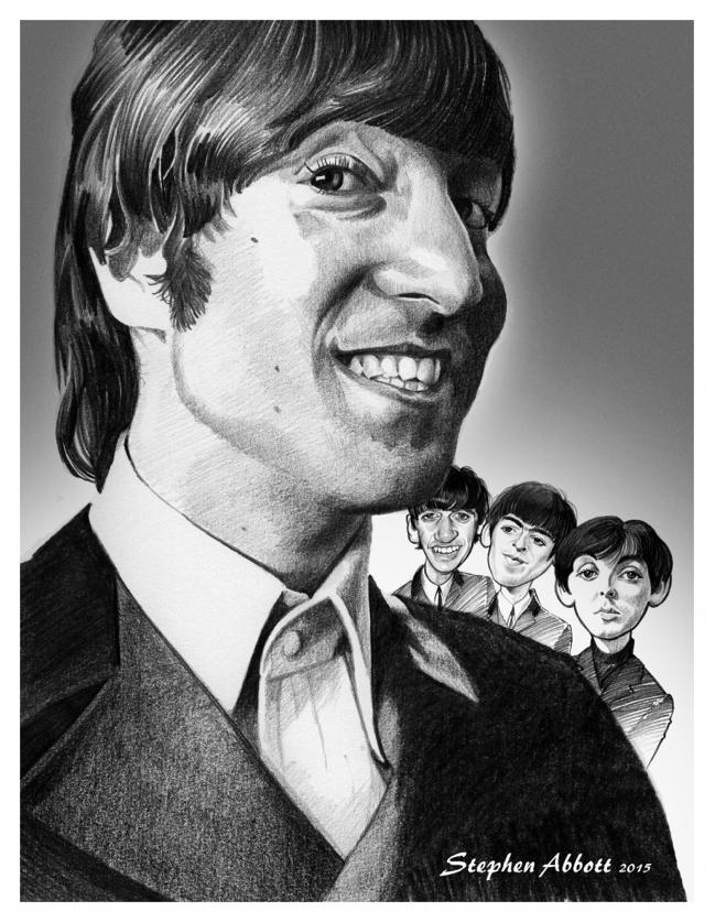 John Lennon, Paul McCartney, Ringo Starr, George Harrison par Henstepbatbot